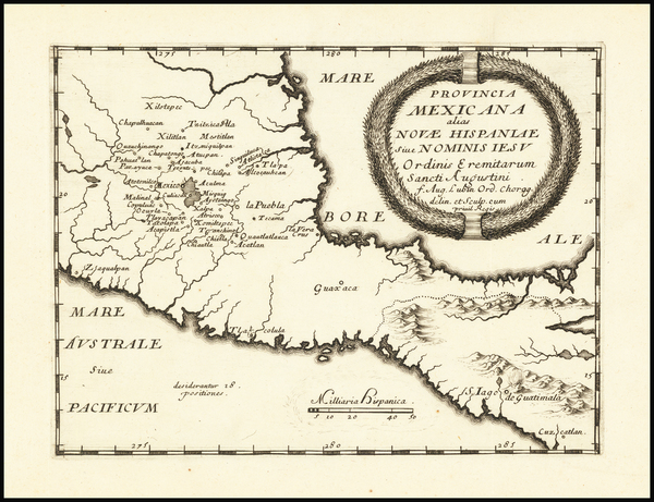 84-Mexico and Central America Map By Augustin Lubin