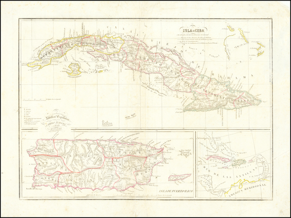 52-Cuba and Puerto Rico Map By Camilo Alabern