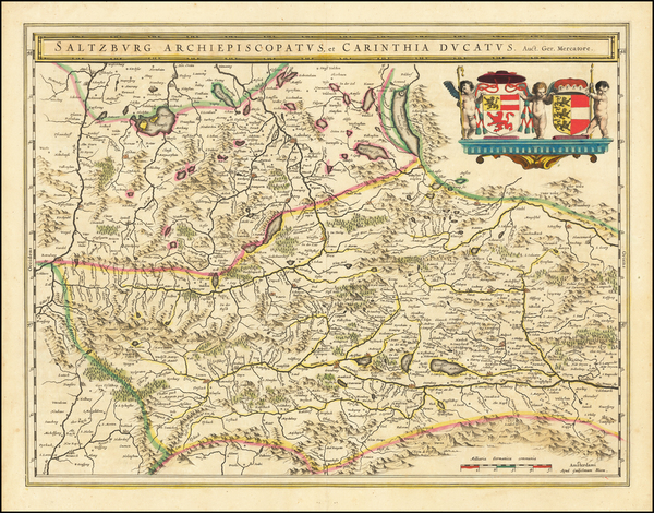 57-Austria Map By Willem Janszoon Blaeu