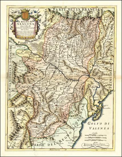 85-Spain Map By Giacomo Giovanni Rossi / Giacomo Cantelli da Vignola