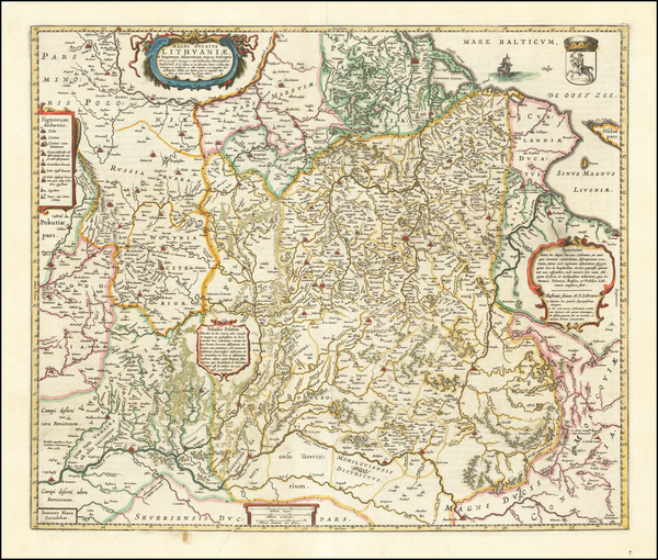 60-Poland, Ukraine and Baltic Countries Map By Johannes Blaeu
