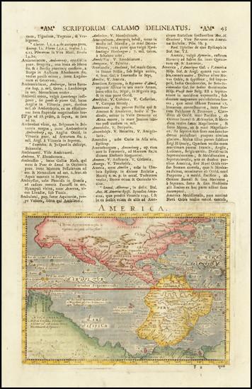 53-Western Hemisphere and America Map By Giovanni Antonio Magini