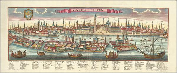 99-Venice Map By Johanne Christoph Haffner