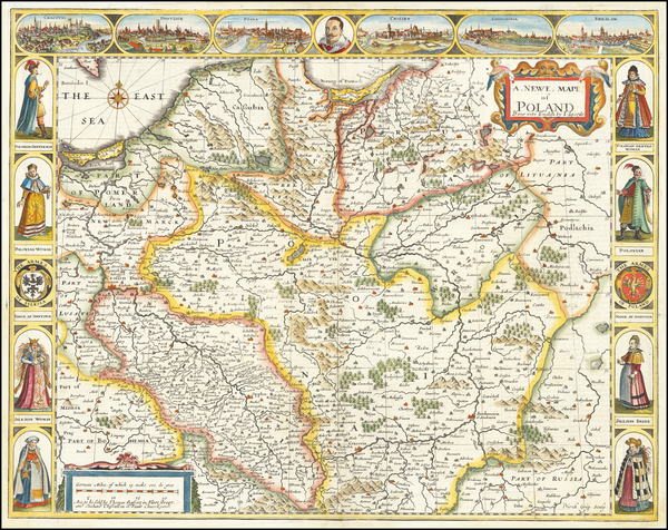 39-Poland and Baltic Countries Map By John Speed