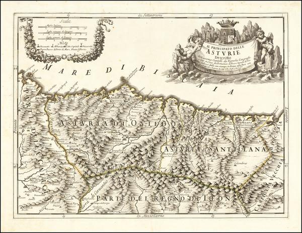 90-Spain Map By Giacomo Giovanni Rossi / Giacomo Cantelli da Vignola