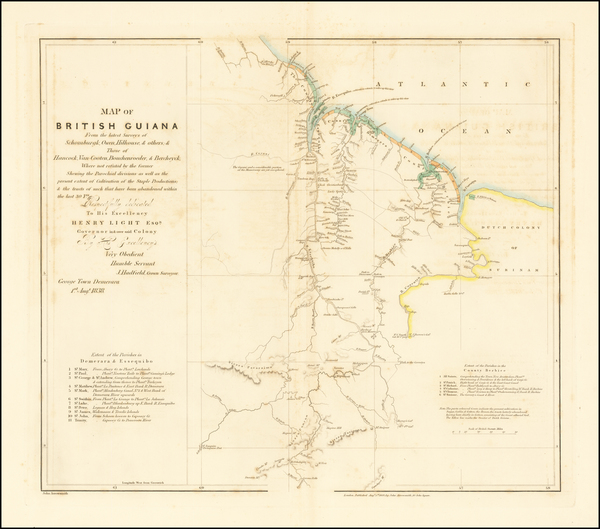 8-Guianas & Suriname Map By John Arrowsmith
