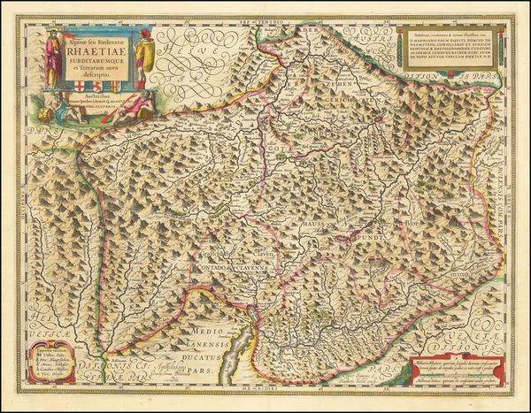 76-Switzerland Map By Willem Janszoon Blaeu