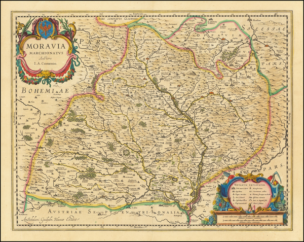 56-Czech Republic & Slovakia Map By Willem Janszoon Blaeu