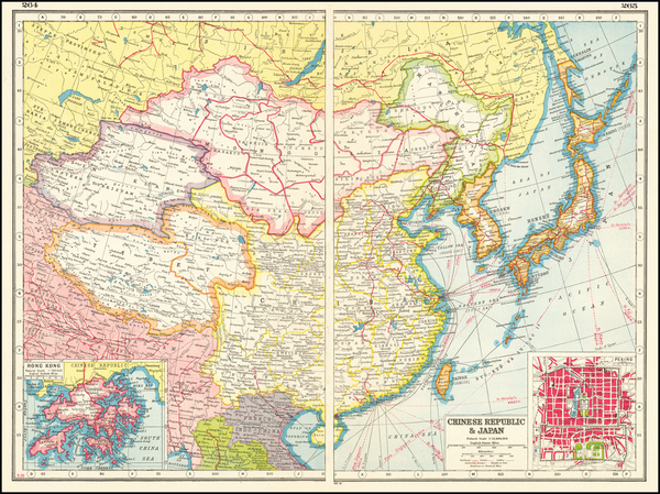 100-China and Hong Kong Map By Harmsworth