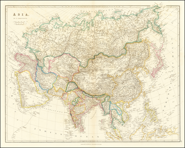 0-Asia Map By John Arrowsmith