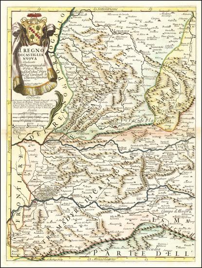 75-Spain Map By Giacomo Giovanni Rossi / Giacomo Cantelli da Vignola