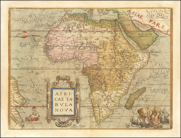 34-Africa Map By Abraham Ortelius