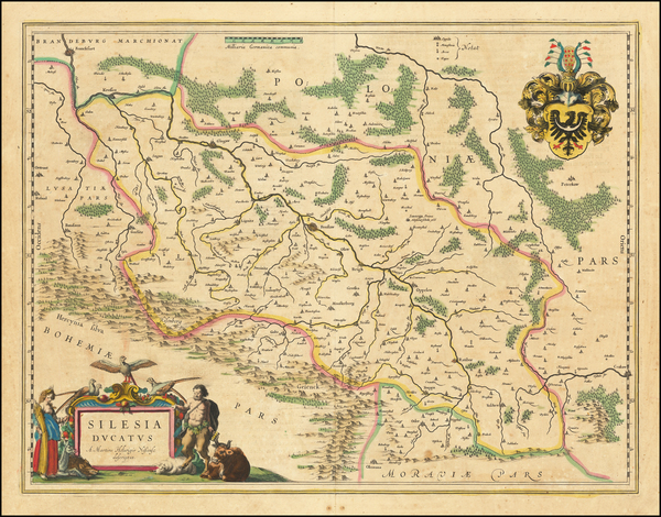 86-Germany and Poland Map By Willem Janszoon Blaeu