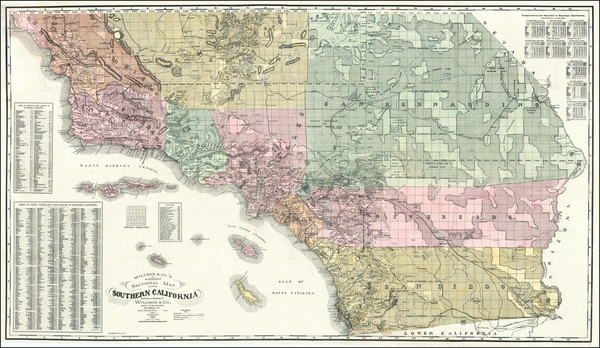 79-California and Los Angeles Map By Willson & Co.