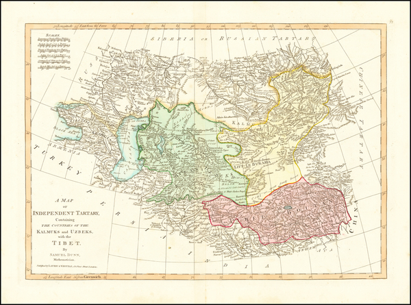 88-Russia, China, Central Asia & Caucasus and Russia in Asia Map By Samuel Dunn
