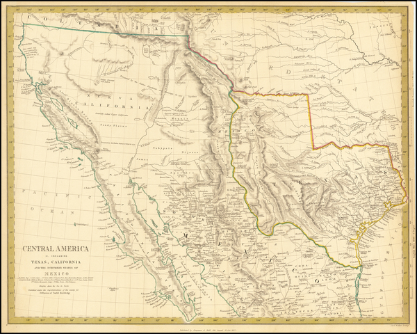 57-Texas, Southwest, Rocky Mountains and California Map By SDUK