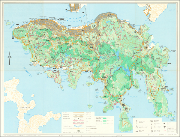 21-Hong Kong Map By Crown Lands & Survey Office Hong Kong