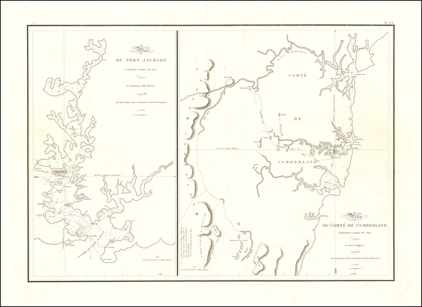 9-Australia Map By Louis Claude Desaulses de Freycinet