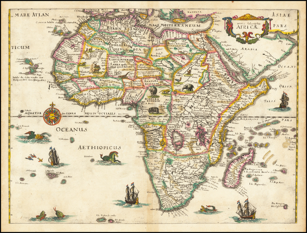 23-Africa Map By Matthaus Merian