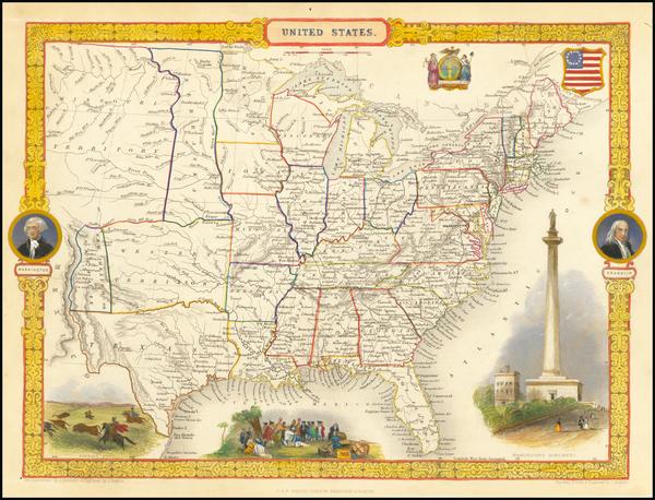 65-United States Map By John Tallis