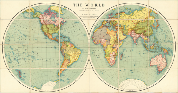 14-World Map By George Philip & Son