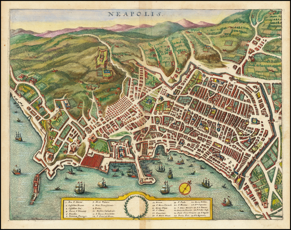 81-Other Italian Cities Map By Matthaeus Merian