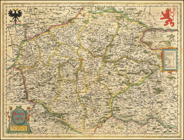 62-Czech Republic & Slovakia Map By Willem Janszoon Blaeu