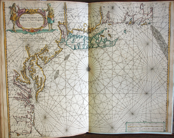 6-New England, Mid-Atlantic and Southeast Map By Hendrick Doncker