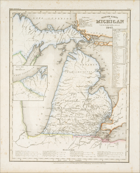 79-Michigan Map By Joseph Meyer