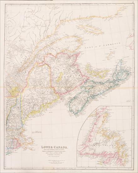 31-New England, Maine and Canada Map By John Arrowsmith