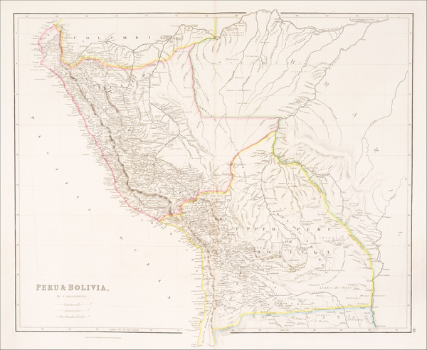 91-Paraguay & Bolivia and Peru & Ecuador Map By John Arrowsmith
