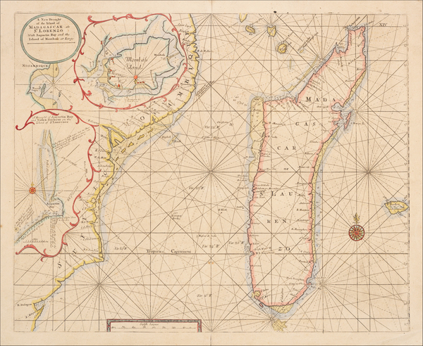 96-East Africa and African Islands, including Madagascar Map By Samuel Thornton