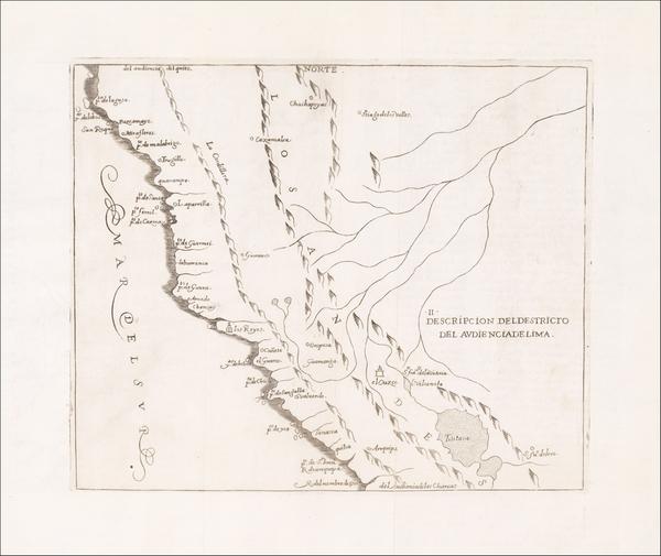 46-Peru & Ecuador Map By Antonio de Herrera y Tordesillas