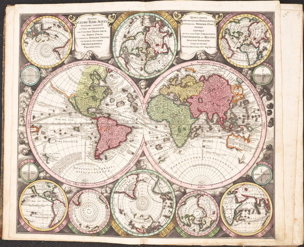 64-Atlases Map By Matthaus Seutter