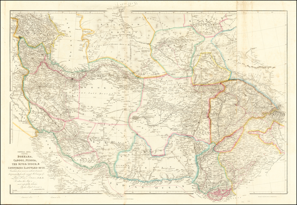 78-India, Central Asia & Caucasus, Middle East and Persia Map By John Arrowsmith
