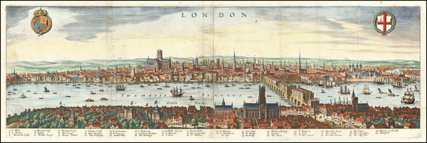 72-London Map By Matthaeus Merian