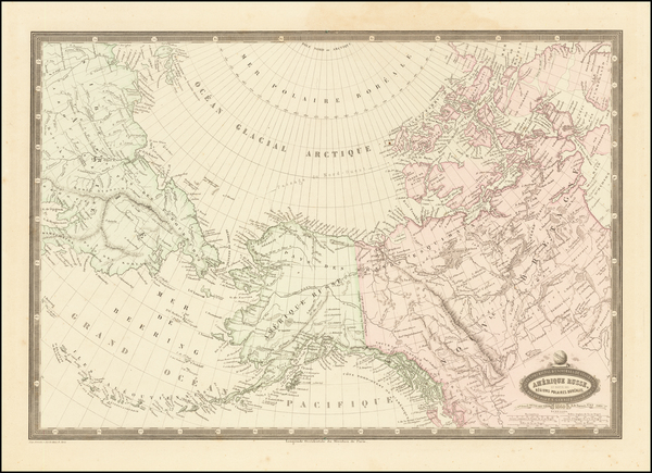 24-Polar Maps, Alaska and Canada Map By F.A. Garnier