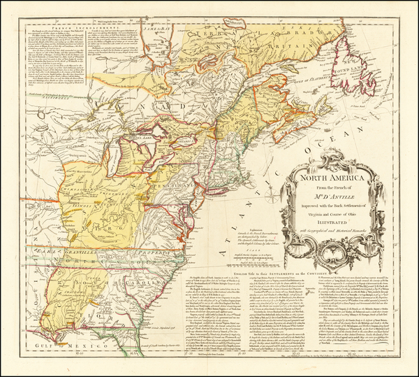 0-United States Map By Thomas Jefferys