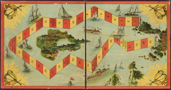 38-Massachusetts, Rhode Island, Curiosities and Pictorial Maps Map By