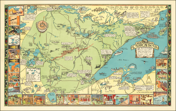 37-Minnesota and Pictorial Maps Map By Irene Anderson  &  Kathryn Arnquist
