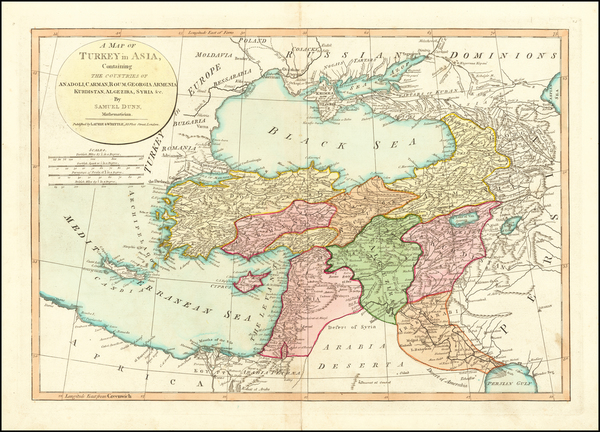 49-Balkans, Turkey, Central Asia & Caucasus and Turkey & Asia Minor Map By Samuel Dunn