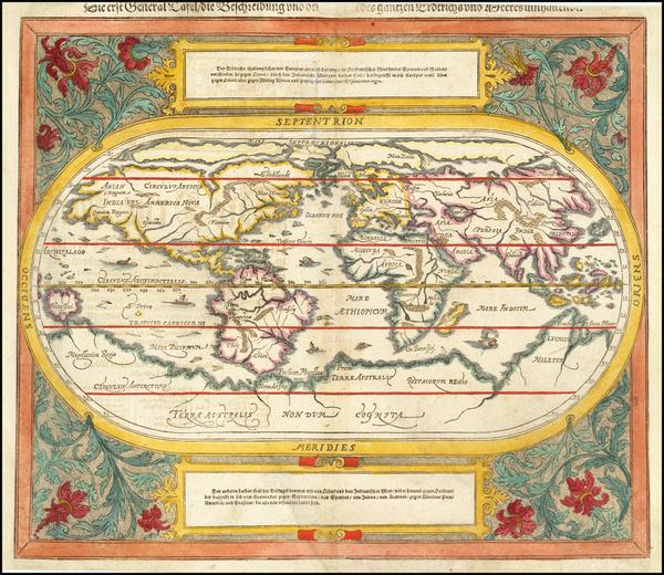 21-World Map By Sebastian Munster