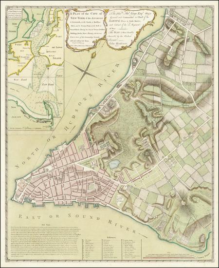 41-New York City Map By John Montresor