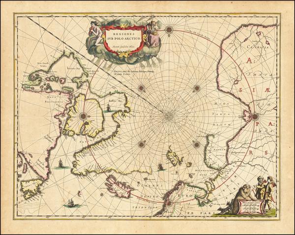 80-Polar Maps Map By Johannes Blaeu