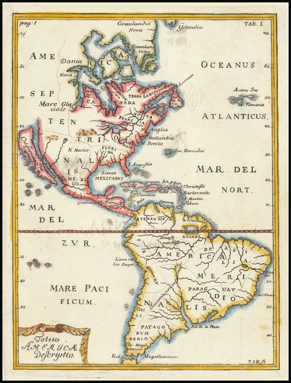 85-South America and California as an Island Map By Thomas Campanius Holm