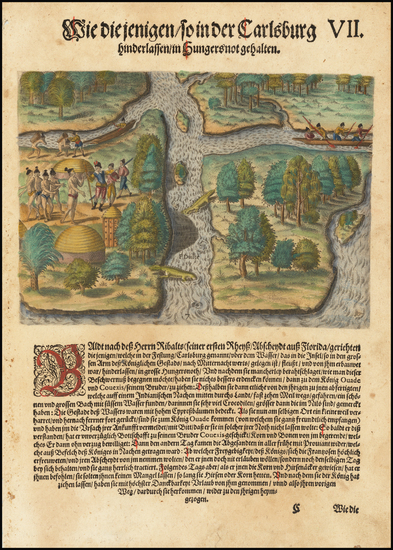 91-Florida Map By Theodor De Bry
