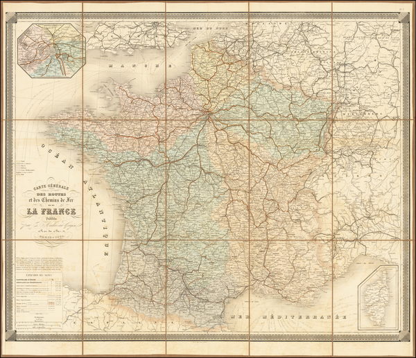 49-France Map By Eugène Andriveau-Goujon