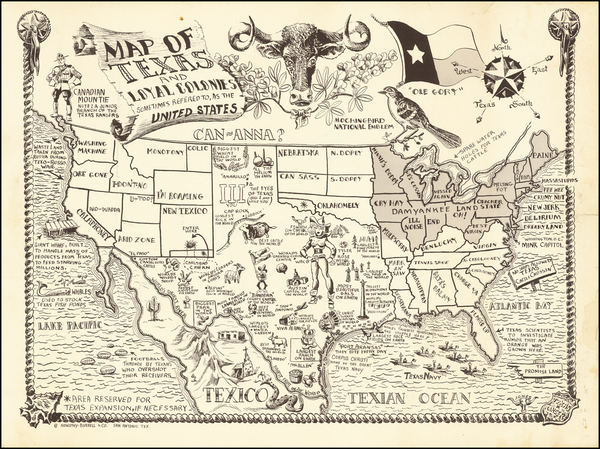 32-Texas Map By Jones