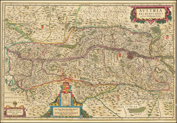 30-Austria Map By Willem Janszoon Blaeu