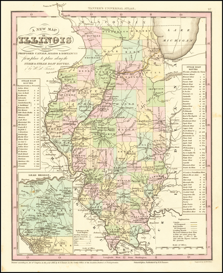 45-Illinois Map By Henry Schenk Tanner